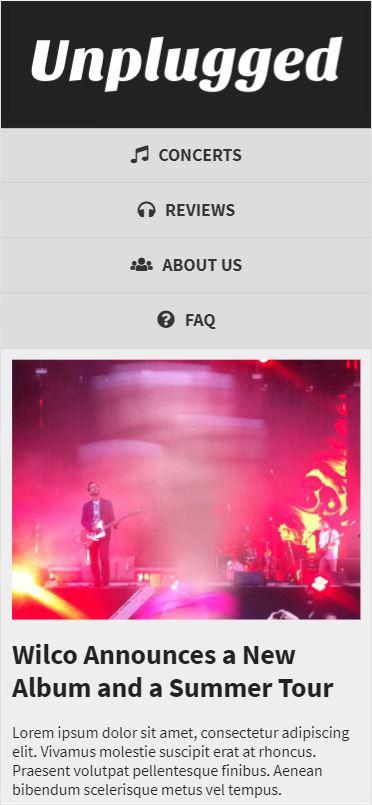 Unplugged mobile screenshot