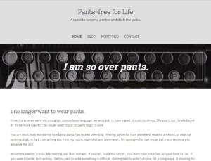 Pants-free for Life homepage screenshot