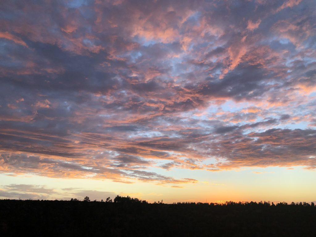 Sunset in Arizona's White Mountains