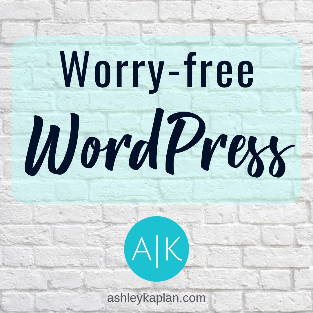 Worry-free WordPress