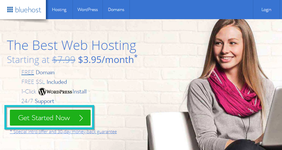 How to start a blog with Ashley Kaplan: Choose your hosting plan with BlueHost