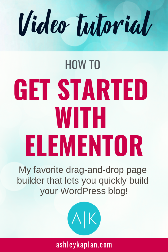 Elementor: my favorite WordPress tool! Elementor is a drag-and-drop page builder plugin that you can use to quickly and easily create beautiful, customized WordPress websites. In this post, I share a video tutorial explaining how to get started with Elementor. Are you ready? Come on!