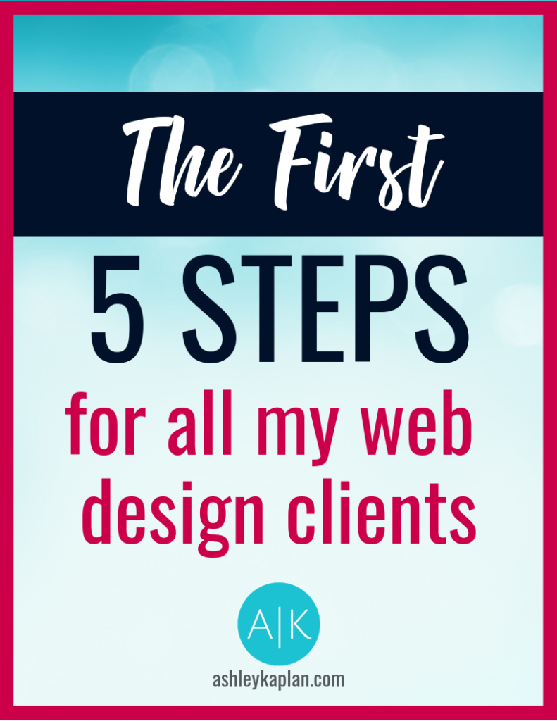 Identify a cohesive look for your brand and learn my top method of driving traffic to my blog and onto my website! You can do it just by following the first 5 steps for all my web design clients.