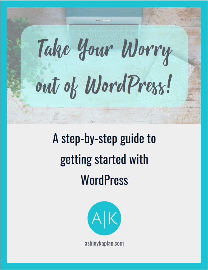 Tired of trying to figure out how to start your blog? Download this FREE step-by-step guide to getting started with WordPress, and have your website up and running today!